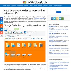 How to change folder background in Windows 10