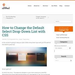Change the Default Select Drop-Down List