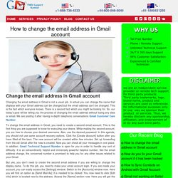 How to change the email address in Gmail account