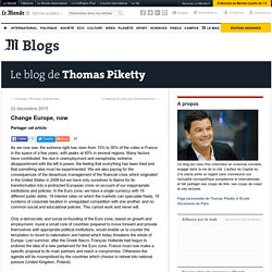 Le blog de Thomas Piketty