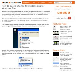 How to Batch Change File Extensions for Windows Files