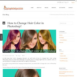 How to Change Hair Color in Photoshop?