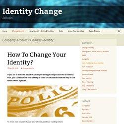 Change Identity