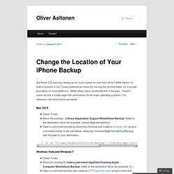 Change the Location of Your iPhone Backup | Oliver Aaltonen