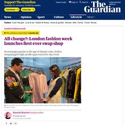 All change?: London fashion week launches first ever swap shop
