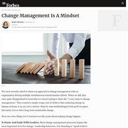 Change Management Is A Mindset