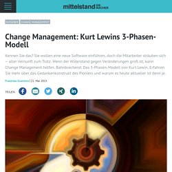 Change Management: Kurt Lewins 3-Phasen-Modell