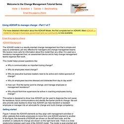 Change Management using ADKAR