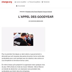 François Hollande: L'APPEL DES GOODYEAR
