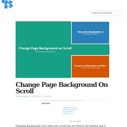 Change Page Background on Scroll