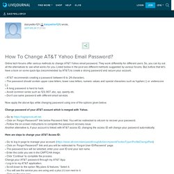 How To Change AT&T Yahoo Email Password?: daisywillor121