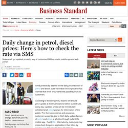 Daily change in petrol, diesel prices: Here's how to check the rate via SMS