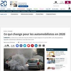 Ce qui change pour les automobilistes en 2020