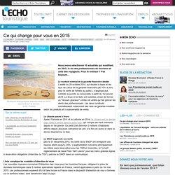 Ce qui change pour vous en 2015 - L'Echo Touristique