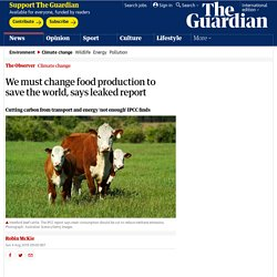 We must change food production to save the world, says leaked report