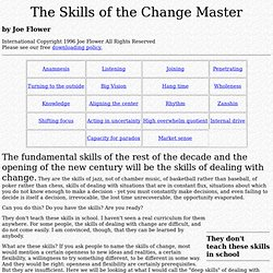 Change Project: Skills of the Change Master
