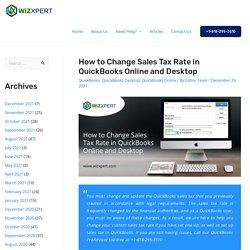 How to change Sales Tax Rate In QuickBooks Online & Desktop