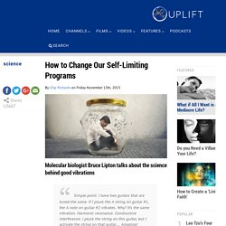 How to Change Our Self-Limiting Programs