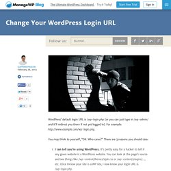 Change Your WordPress Login URL