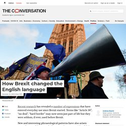 How Brexit changed the English language