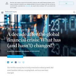 What has and hasn't changed since the global financial crisis?