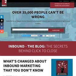 What's Changed About Inbound Marketing That You Don't Know