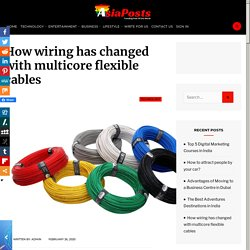 Know about multicore flexible cables