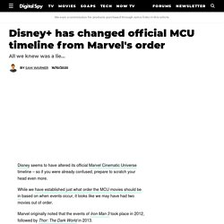 Disney+ has changed official MCU timeline from Marvel's order