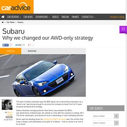 Subaru: Why we changed our AWD-only strategy
