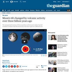 Moon's tilt changed by volcanic activity over three billion years ago