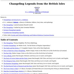 Changeling Legends from the British Isles