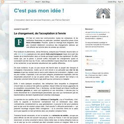 Le changement, de l'acceptation à l'envie