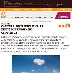 Canicule. Nous subissons les effets du changement climatique l Association CARE France