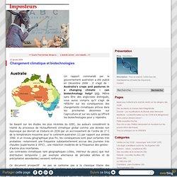 BLOG IMPOSTEURS 27/01/09 Changement climatique et biotechnologies