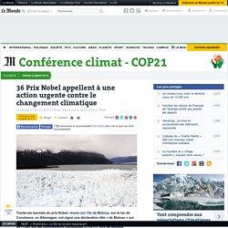 36 Prix Nobel appellent à une action urgente contre le changement climatique