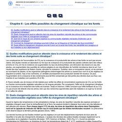 Chapitre 6 - Les effets possibles du changement climatique sur les forets
