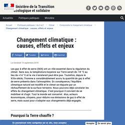 Changement climatique : causes, effets et enjeux