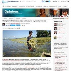 Changement climatique : un risque accru pour les pays les plus pauvres