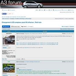 Changement LCD compteur pixel HS effectué : Petit tuto : Problèmes Eléctrique ou Eléctronique - Forum Audi A3 8P - 8V