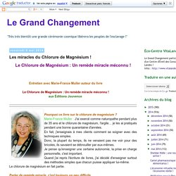 Le Grand Changement: Les miracles du Chlorure de Magnésium !