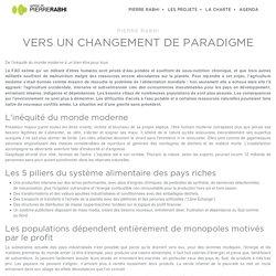 Vers un changement de paradigme