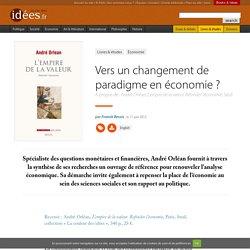 Vers un changement de paradigme en économie ?