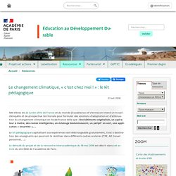 Le changement climatique, «c'est chez moi!»: le kit pédagogique