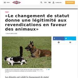 «Le changement de statut donne une légitimité aux revendications en faveur des animaux»