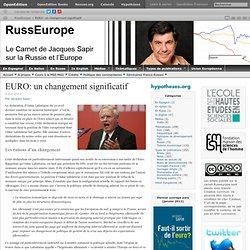 EURO: un changement significatif