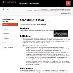 Changement social