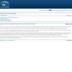 PARLEMENT EUROPEEN - Réponse à question E-013620-15 Impact du changement climatique sur le secteur vitivinicole européen