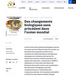 Des changements biologiques sans précédent dans l'océan mondial