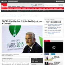 COP21: Couillard se félicite du rôle joué par le Québec
