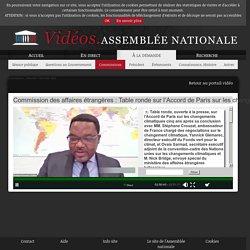 ASSEMBLEE NATIONALE 09/12/20 Commission des affaires étrangères : Table ronde sur l'Accord de Paris sur les changements climatiques cinq ans après sa conclusion